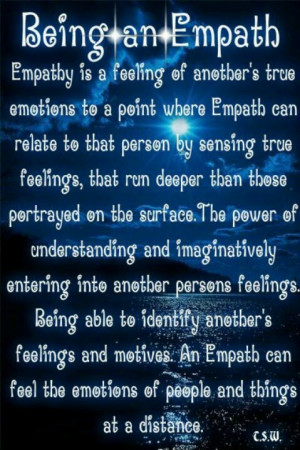 Empath... Wow, finally a description of how I live and feel all the ...