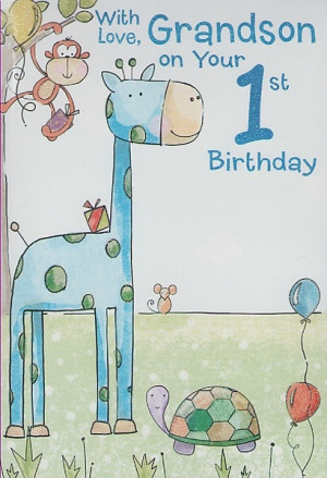 grandson 1st birthday verses