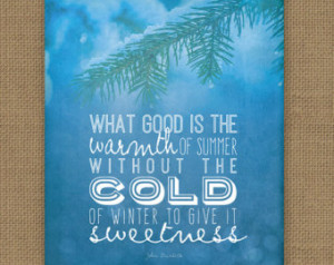 Winter Quote // The Cold of Winter // Digital Art Print // 8x10 ...