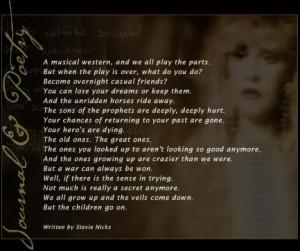 Stevie Nicks, Details Magazine, August 1994