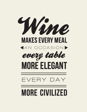 Andre Simon Quote// Wine Lovers Quote // Wine by LADYBIRDINK, $18.00