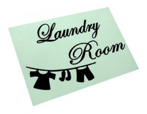 Laundry Room - Vinyl Wall Art Sticker Quotes Home Decor Graphic Decal ...