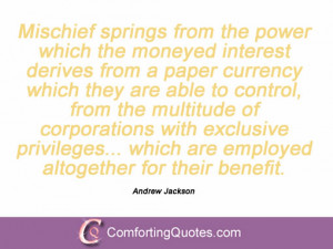 Quotes And Sayings By Andrew Jackson
