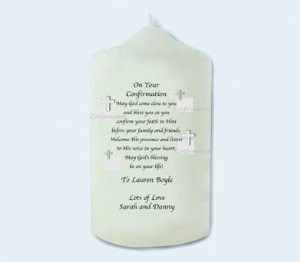 first holy communion candle gift for boy or girl amazon first ...