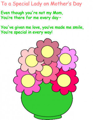 Mother's Day poem for a special woman who is not your mother