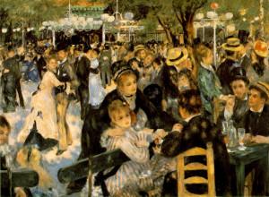 Renoir. Le Moulin de la Galette,1876, oil on canvas, Musee d'Orsay