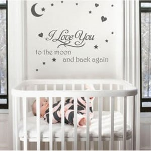 Home » I Love You to the Moon Quote Nursery Wall Art Sticker