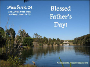Free Christian Father's Day Card or Poster printable template