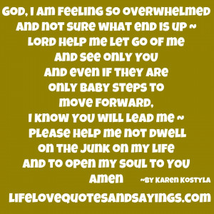 ... Not Sure What End Is Up ~ Lord Help Me Let Go Of Me And See Only You