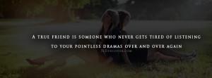 True Friend - Quote Facebook Cover