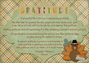 November Visiting Teaching Message: The Divine Gift of Gratitude