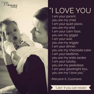 love you because I'm your Mom! All kinds of cute reasons to love ...