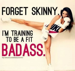 badass, boxing, fit, get fit, healthier, healthy, kick, motto, nike ...