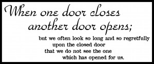 "Savvy ""Quote"" : When One Door Closes…"