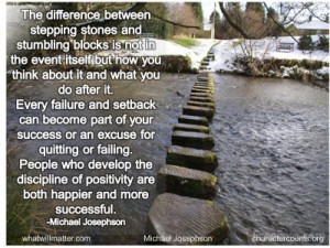 POSTER: The difference between stepping stones and stumbling blocks ...