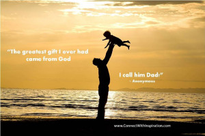 Father's Day Quote, Quote about Greatest Gift from God