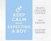 Keep Calm We're Expecting A Boy, Baby Blue, Baby, Mother, Print ...
