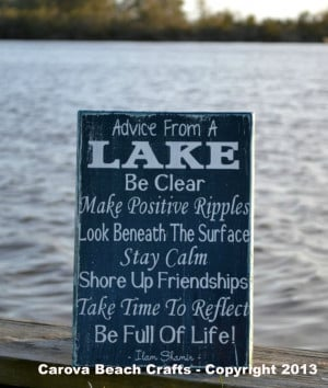 Lake House Decor - Lake Sign - Advice From A Lake - Wood Sign Wall ...