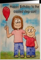 Happy Birthday Best Step-Son Ever Card - Product #131733