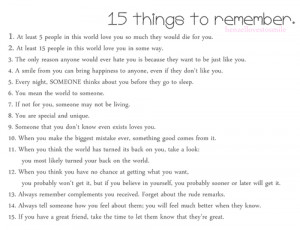 henzellovestosmile: 15 Things To Remember