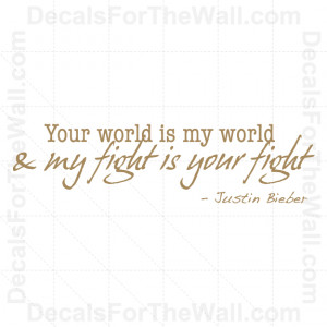Justin-Bieber-One-Time-Girl-Wall-Decal-Vinyl-Sticker-Quote-Decor ...