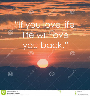 Life quote. Inspirational quote on sunrise background. Motivational ...