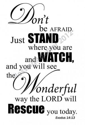 Scripture Art Print Word Art Trust Love Hope Encouragement Exodus 14 ...
