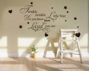 quote wall art sticker - cheap wall decal - Twinkle Little Star quote ...