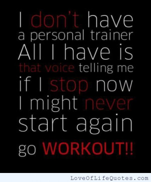Personal Training Quotes Inspirational ~ Personal Trainer Quotes on ...