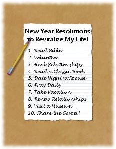 Why not make this year's resolutions ones that