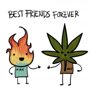 best friends, cartoon, fire, funny, smoke, weed