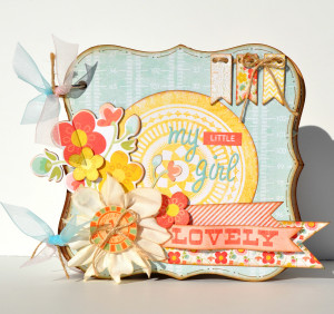 My Mind's Eye - The Sweetest Thing Collection - Tangerine - 12 x 12 ...