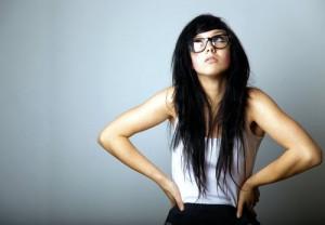 black hair, girl, nerd, scene, sexy