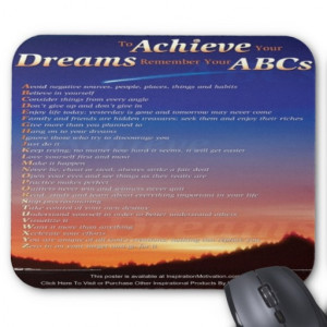 To Achieve Your Dreams...(shooting star) mousepad
