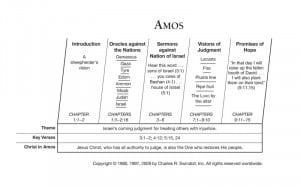 Amos Overview Chart View Chuck Swindoll's chart of Amos, which divides ...