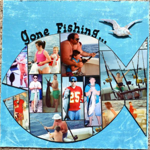 fishing with grandma scrapbook layout | Gallery > Layouts > All