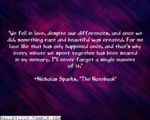 nicholas sparks, quotes, sayings, famous, fall in love | Inspirational ...