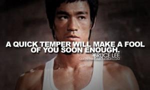 quick temper will make fool