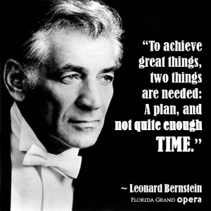 Leonard Bernstein, music quote