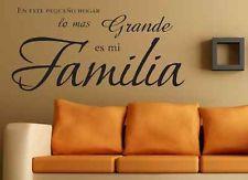 En este hogar lo mas grande es mi familia spanish vinyl wall decal ...