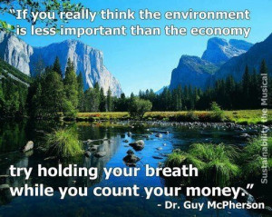 Keep Earth Green Environmental Quote