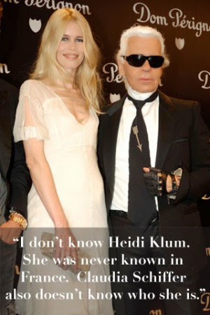 quotes, karl lagerfeld crazy quotes, karl lagerfeld heidi klum quote ...