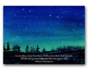 VALENTINE - WEDDING - Romantic Love - Shakespeare Quote Card - Also ...