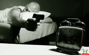Shoot The Clock During Sleep Funny Picture