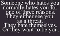 let those haters hate