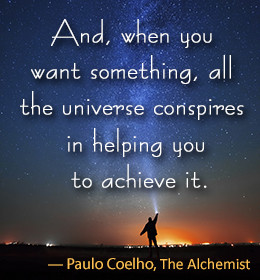 Paulo Coelho quote from The Alchemist