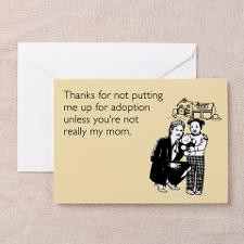 Up For Adoption Greeting Card for