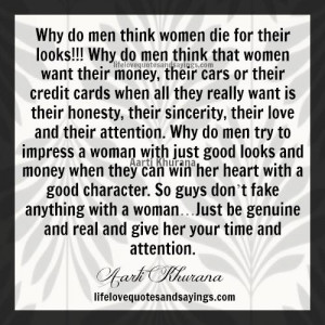 why do men think women die for their looks why do men think that women ...