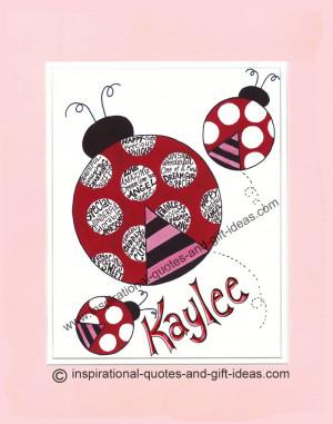 Ladybug Sayings