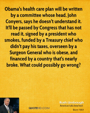 Obama's health care plan will be written by a committee whose head ...